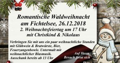 Waldweihnacht am Fichtelsee – 26.12.2018