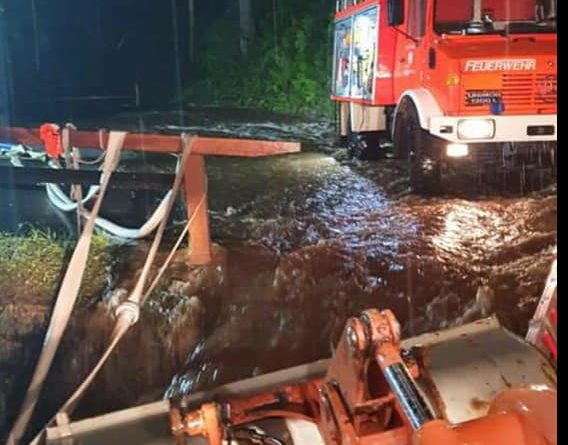 Hochwassereinsätze Neubau und Warmensteinach