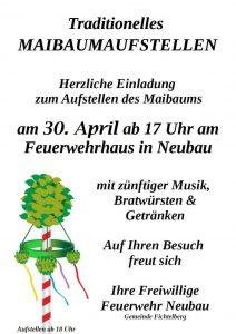 Einladung zum Maibaumaufstellen am 30. April um 17:00 Uhr